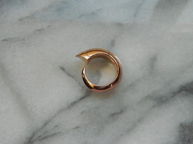 Shaun Leane - Rose Gold Vermeil Tusk Ring - £275.00