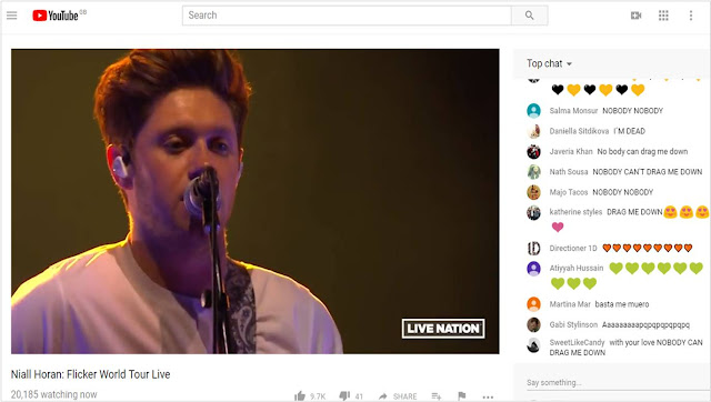 Niall Horan streaming live on YouTube