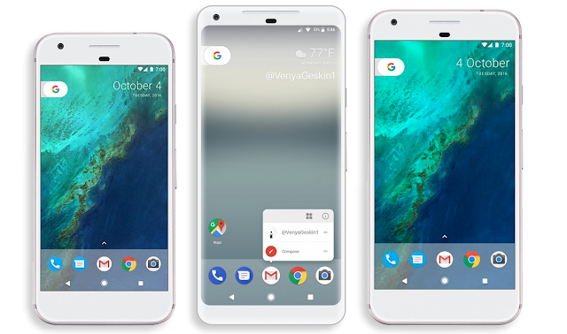 2017 Pixel XL Renders Offer Direct Size Comparisons With Pixel and Pixel XL