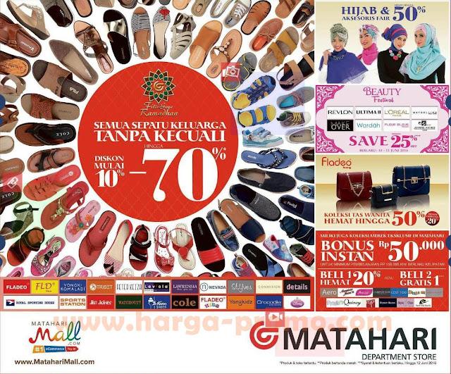 Promo Matahari Department Store Terbaru Koleksi Sepatu dan Sandal Keluarga  Unconditional Diskon Dari 10% - 70% Periode 10 - 12 Juni 2016 558269dffc