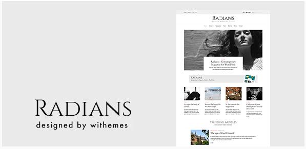Radians Theme WordPress Modern Magazine