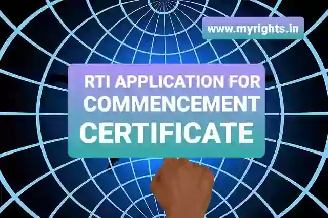 RTI Application for Commencement Certificate