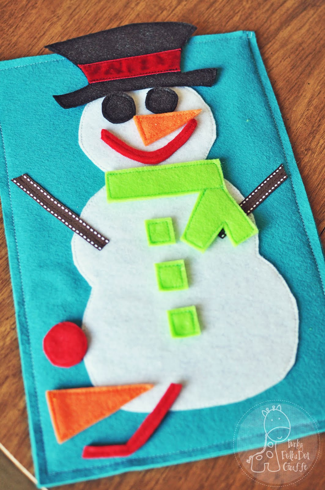 Funky Polkadot Giraffe January Fun Roll A Snowman