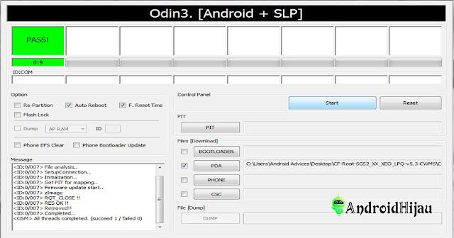 tutorial aplikasi odin, cara menggunakan odin, flash hp dengan odin
