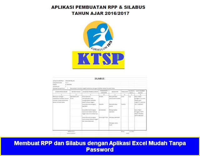 Membuat RPP dan Silabus dengan Aplikasi Excel Mudah Tanpa Password