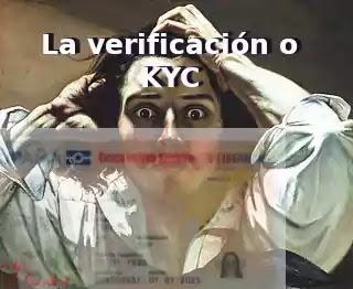 hombre desesperado dni verificación kyc