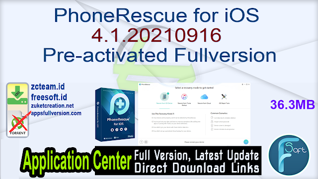 PhoneRescue for iOS 4.1.20210916 Pre-activated Fullversion