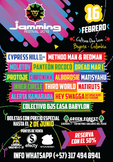 CARTEL JAMMING FESTIVAL 8 Bogotá 2019