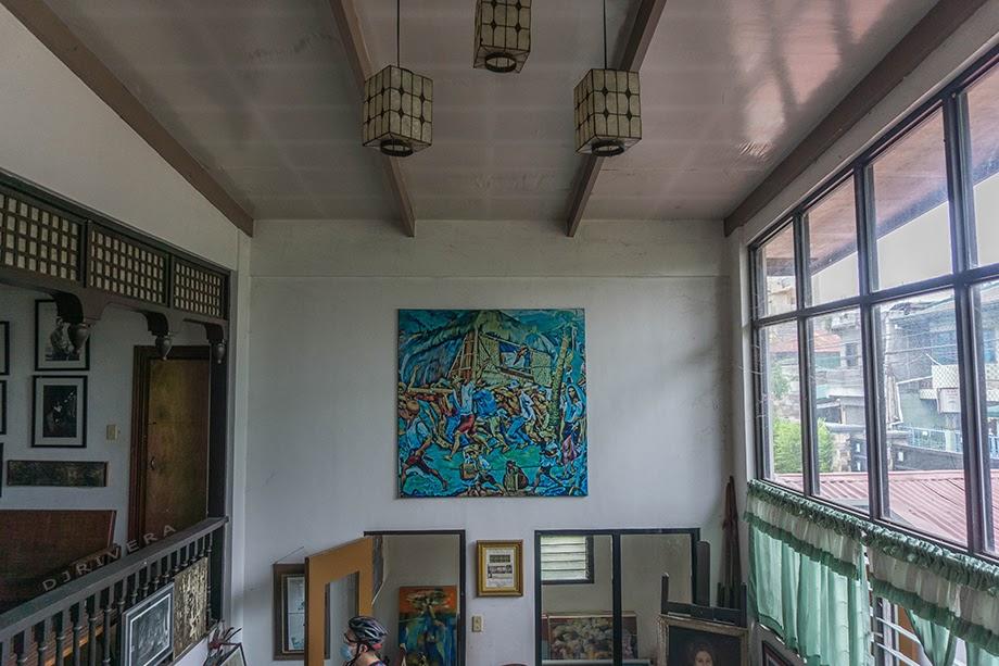 "Botong Francisco's ""Bayanihan"" displayed inside the house"