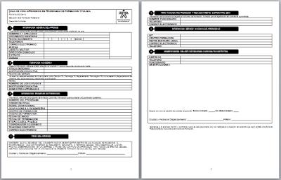 Formato de Hoja de Vida Sena  - Descarga Gratis en Word formato oficial de Hoja de vida Sena para aprendices Sena