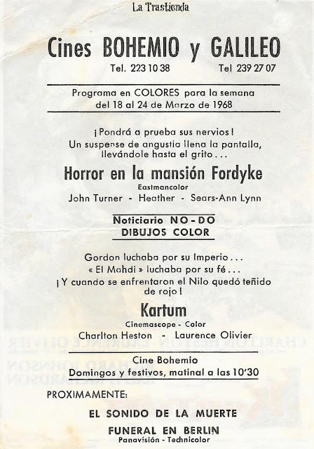 Kartum - Programa de Cine - Charlton Heston - Laurence Olivier