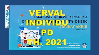 Verval Data Individu Peserta Didik Tahun 2021