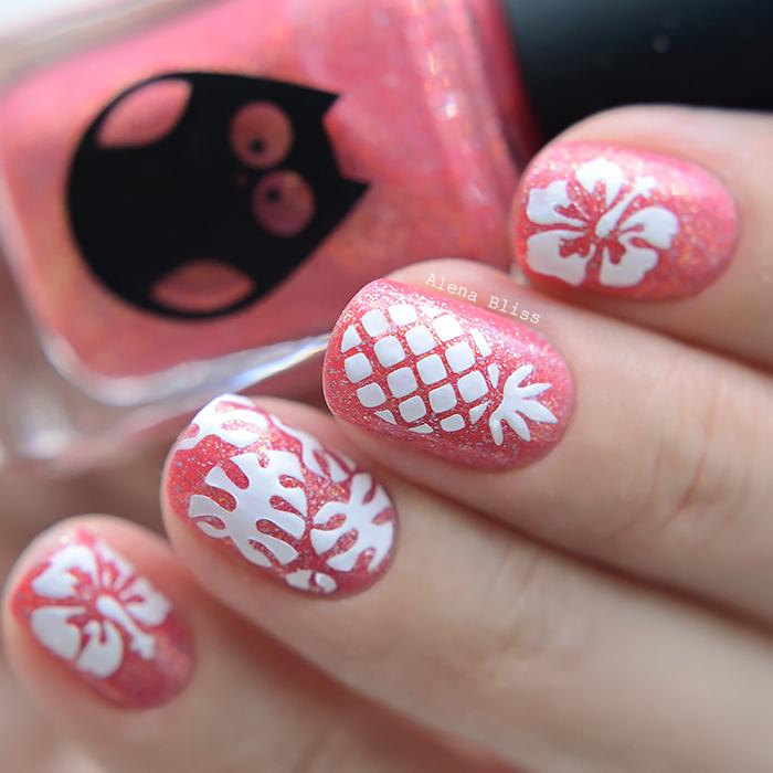 Prima Nails Трафарет для дизайна ногтей Кофейня