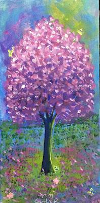 arbol rosado, primavera