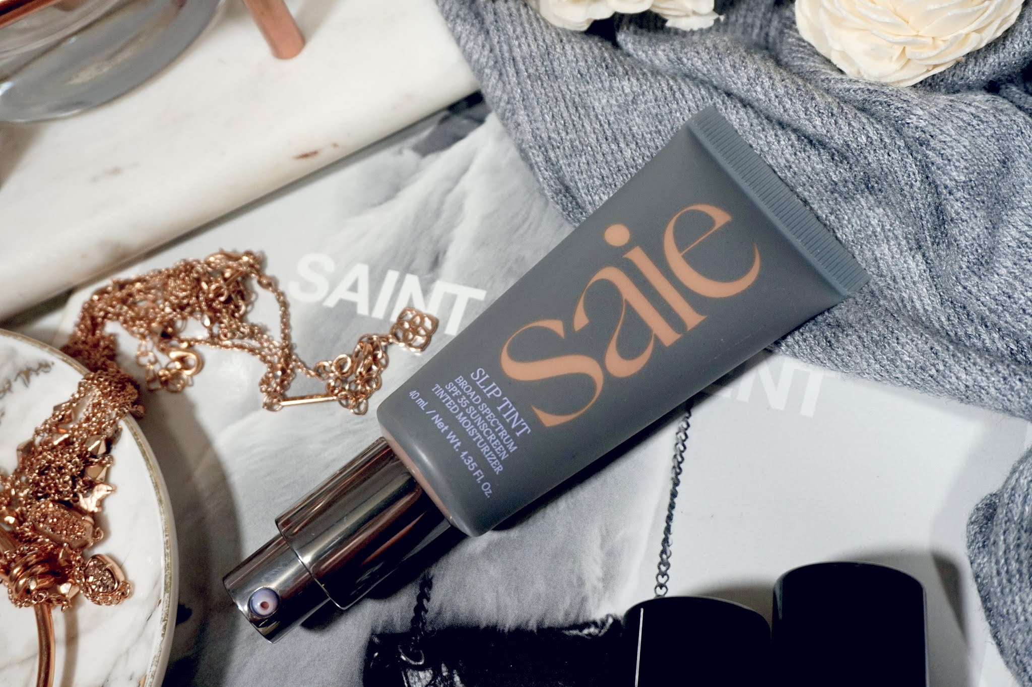 Saie Slip Tint Dewy Tinted Moisturizer SPF 35 Sunscreen
