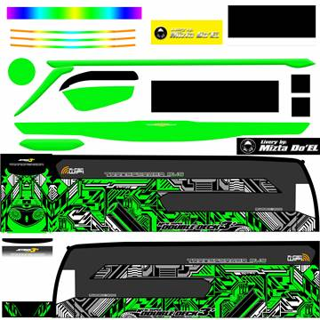 Livery JB3+ SDD MD Creation Electrical Green