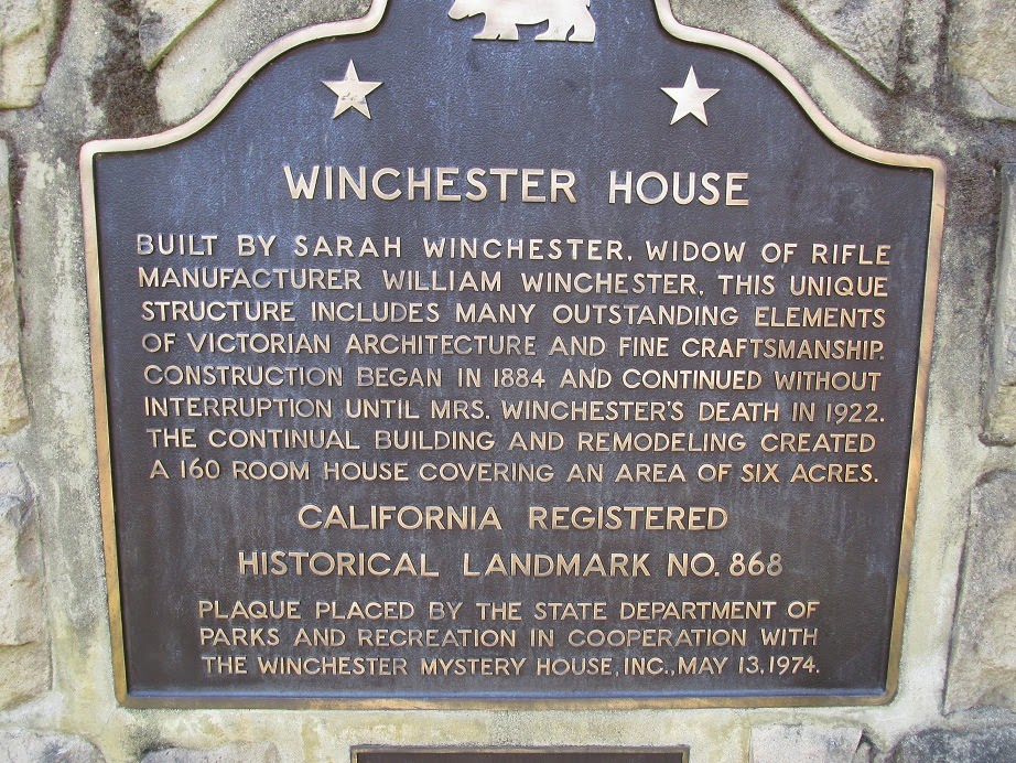 winchester house california historical landmark