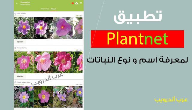 تطبيق plantnet لمعرفة اسم و نوع النباتات