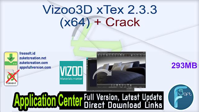 Vizoo3D xTex 2.3.3 (x64) + Crack