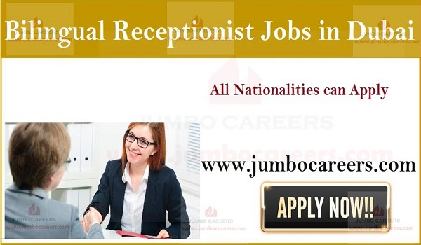 Bilingual Receptionist Jobs in Dubai UAE