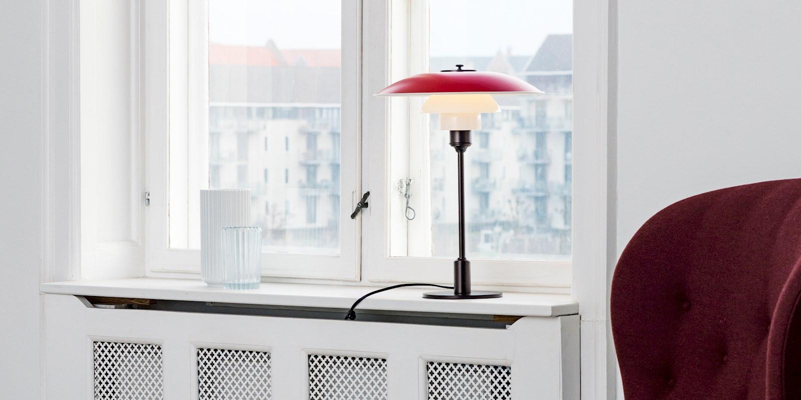 Czerwona lampa retro