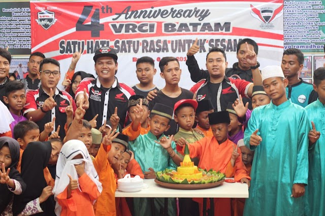 Berbagi Untuk Sesama, Cara Verza Rider Community Indonesia (VRCI) Batam Rayakan 4Th Anniversary