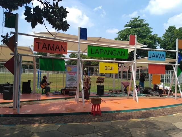 Taman Terbuka Hijau Lapangan Jawa, Sabtu Minggu Full Hiburan