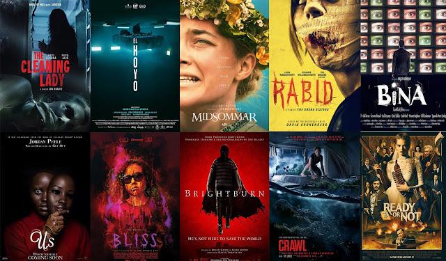 Top 10 de películas de terror del 2019