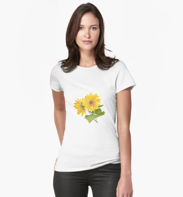 The most beautiful sunflowers in the world Fitted T-Shirt