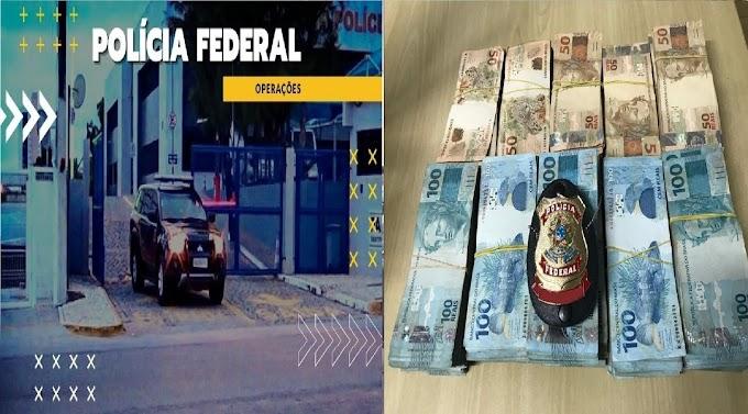 Operação Expurgo investiga corrupção passiva de agente de portaria, e em Corumbá, a PF apreendeu R$ 212 mil em espécie.