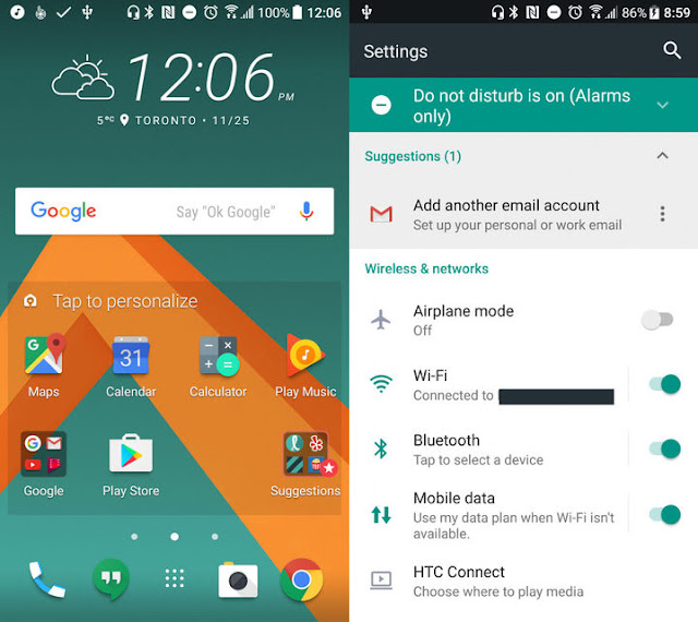 Download Android 7 Nougat For HTC 10