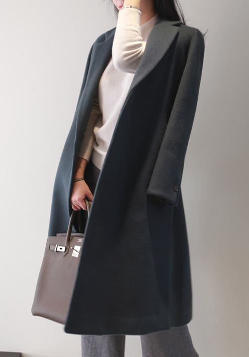 Side Slit Midi Coat