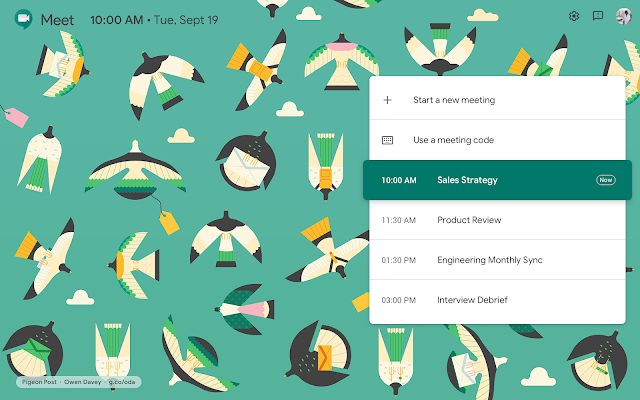 Material Design for Hangouts Meet on the Web 2