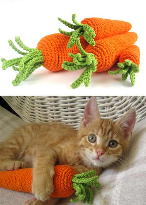 Crocheted Carrots - Free Pattern