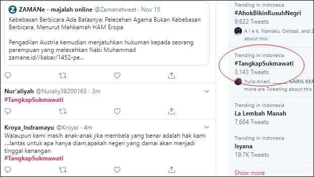Bandingkan Soekarno dengan Nabi Muhammad, Warganet Tuntut #TangkapSukmawati