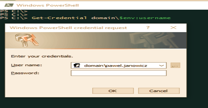 CredPhish : A PowerShell Script Designed To Invoke Legitimate Credential Prompts And Exfiltrate Passwords Over DNS