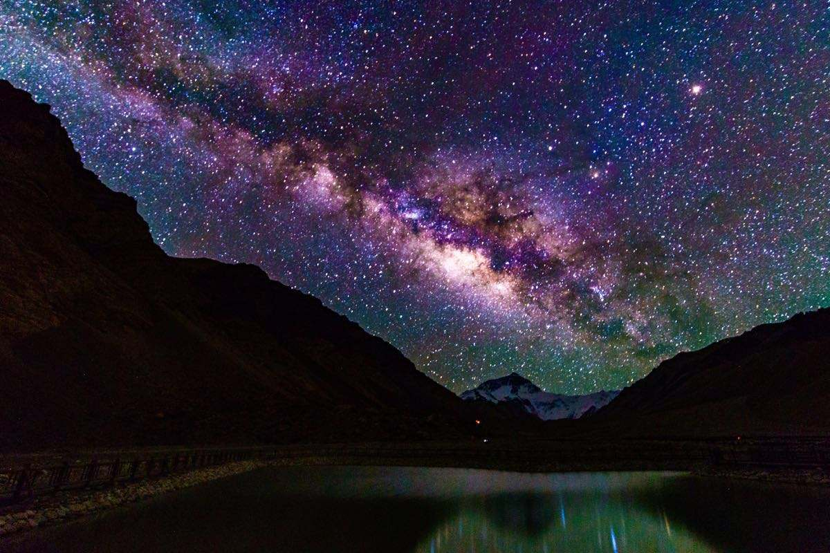 You can see beautiful starts in sky at Everest base camp at night.