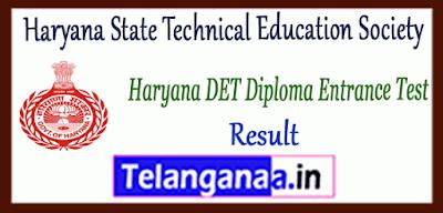 Haryana DET Diploma Entrance Test Result Counselling