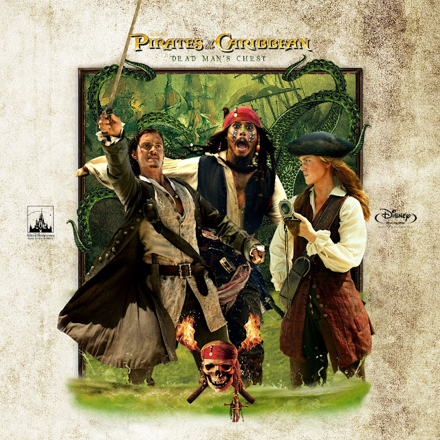Pirates of the Caribbean: Dead Man's Chest Bluray Label