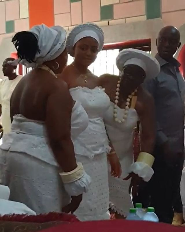 VIDEO: Regina Daniels Initiated Into 'Womanhood' As Husband, Ned Nwoko Stares Adoringly Into Her Eyes