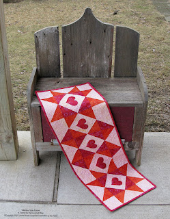 Valentine Table Runner Tutorial for AccuQuilt made with Island Batik fabrics