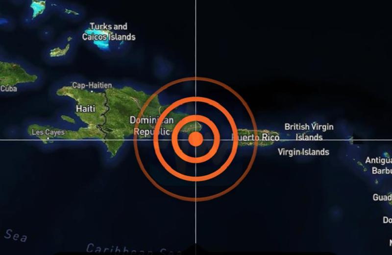 Temblor de 5.8 sacude a República Dominicana