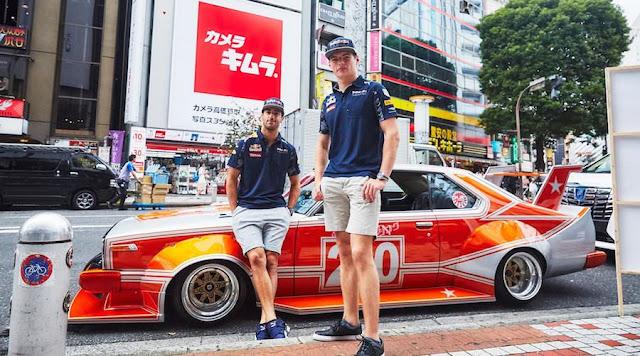 現役「F1レーサー」が「街道レーサー」スタイルで渋谷の街に!