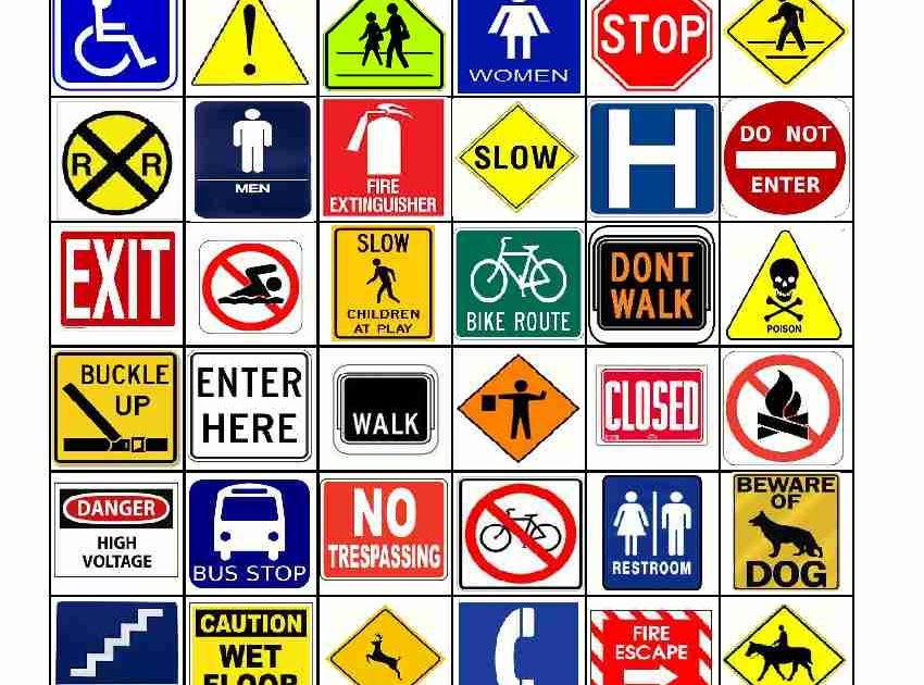 Empowered By THEM: Safety Sign Bingo
