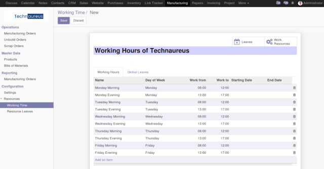 Technaureus Info Solutions Pvt  Ltd : Manufacturing Odoo 11 Vs Odoo 12