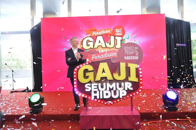 Peluang Sekali Seumur Hidup untuk Memenangi  'Gaji untuk Seumur Hidup'!  Peraduan terbesar Nestlé Malaysia tawar hadiah wang tunai melebihi RM4 juta kepada Pelanggan Nestlé menerusi peraduan #NestleGajiSeumurHidup