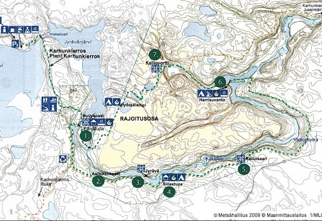 pieni karhunkierros oulanka oulangan kansallispuisto metsähallitus kartta