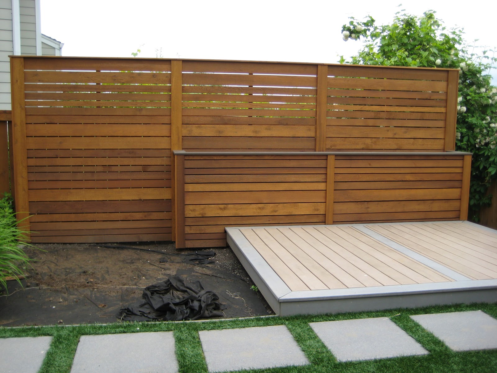 Backyard privacy wall | Nobles Project Blog