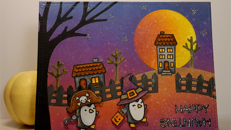 Happy Haunting Penguins - Lawn Fawn