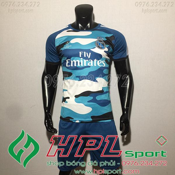 Áo CLB Real training màu xanh1  2020